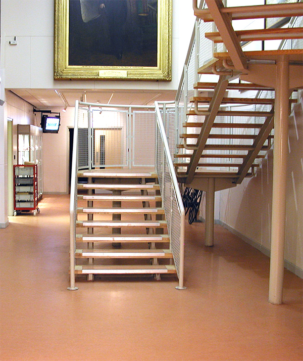 stairs to research facilities