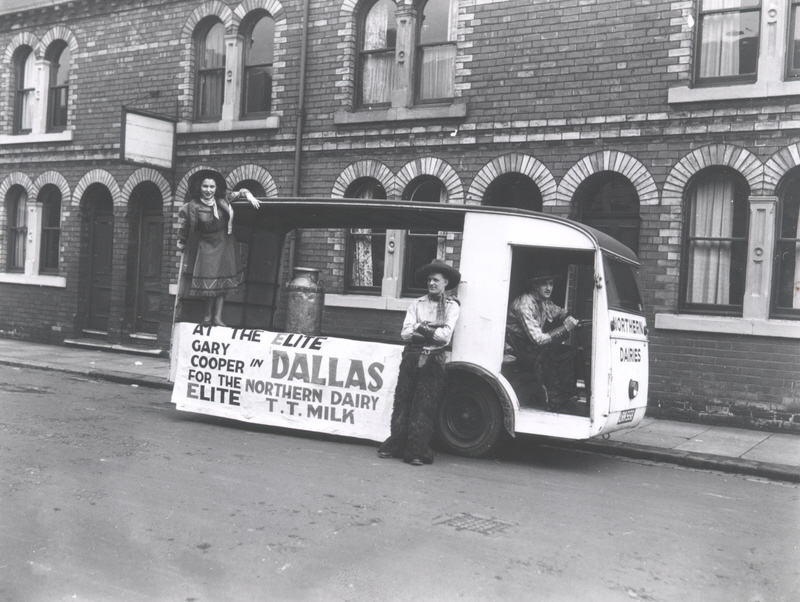Dallas Cowboys and Milk Float