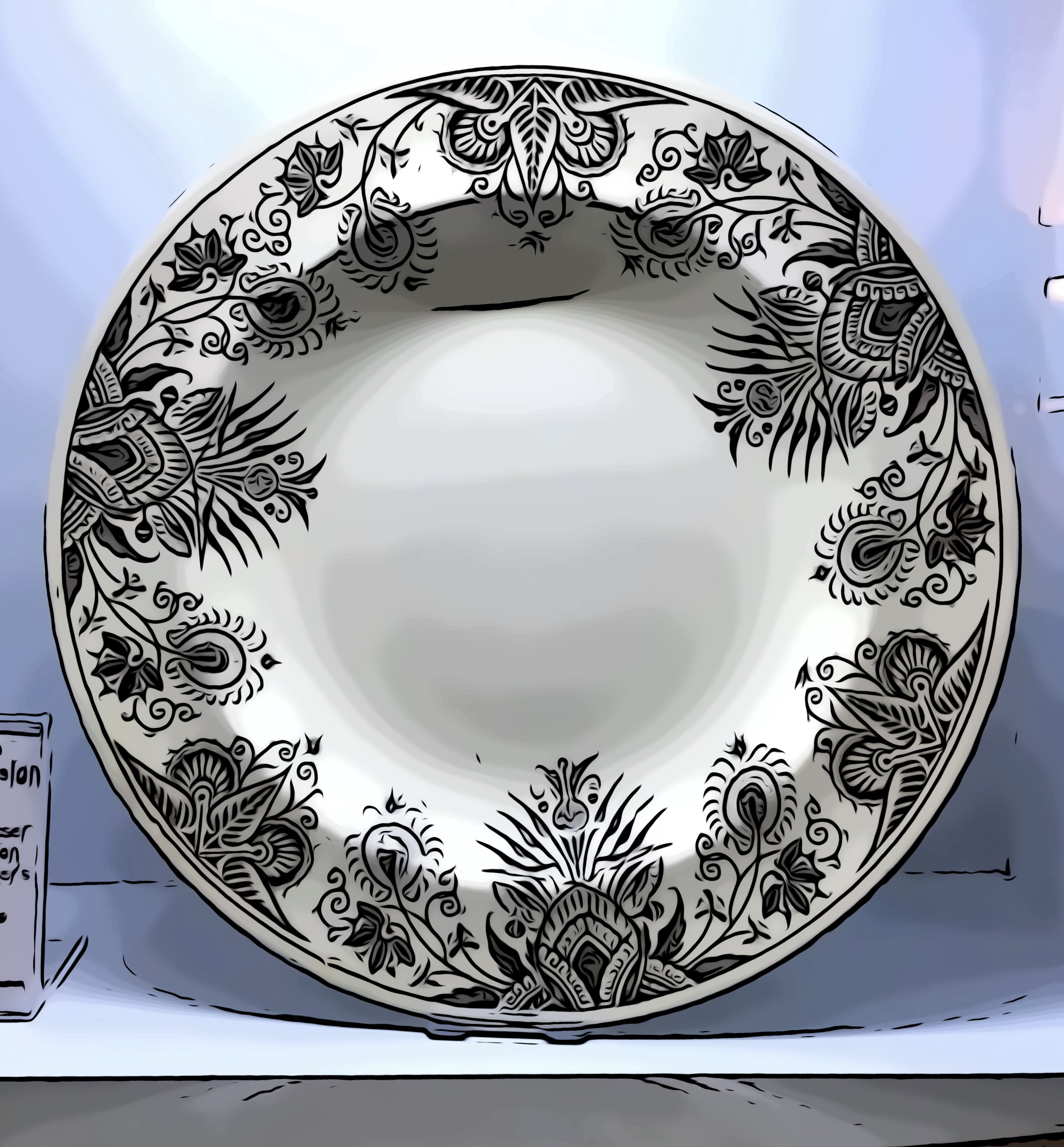 Image of the Owl Plate, part of a dinner service designed by Christopher Dresser